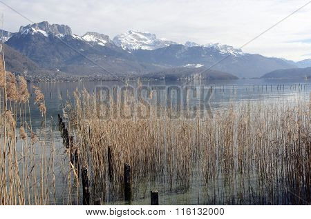 Annecy Lake Landscape In France