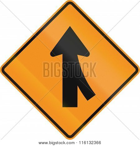 United States Mutcd Road Sign - Intersection With Merge