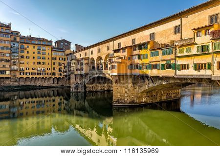 Picturesque View Of Ponte Vecchio In Florence