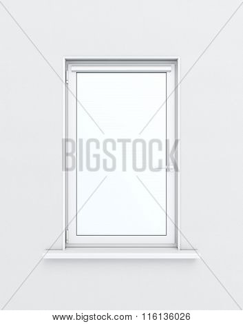 Plastic window isolated on white background. 3d rendering