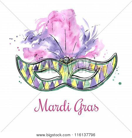 Checkered Watercolor Mask