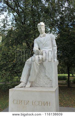 monument Russian poet Sergei Yesenin