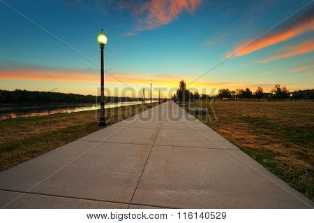 Richard Berkley Riverfront Park Sunrise