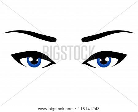 abstract blue eyes