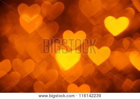 heart background photo golden color