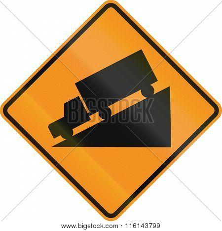 Temporary Road Control Version - Steep Decline
