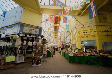 Interior of Brixton Market