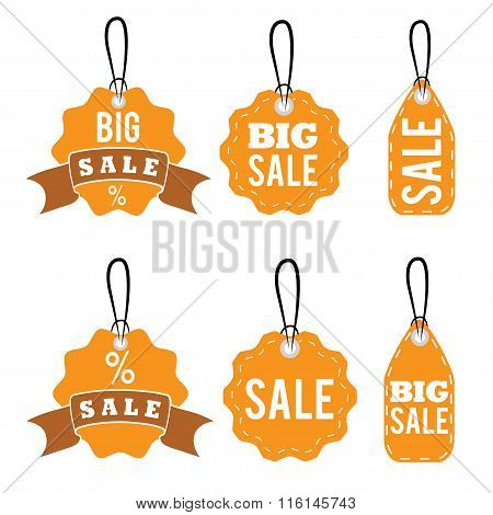 Set Of Sale Tags Vector Design Template