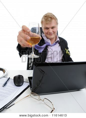 Drunk businessman