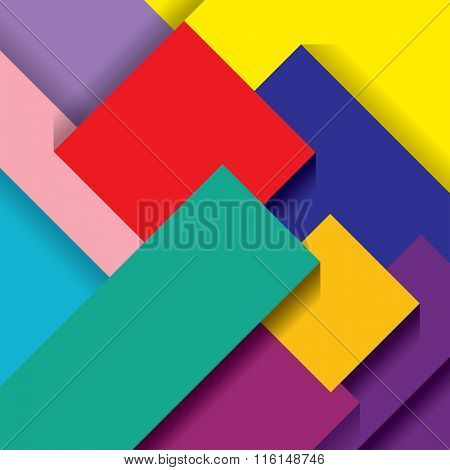 vector abstract composition with color papers