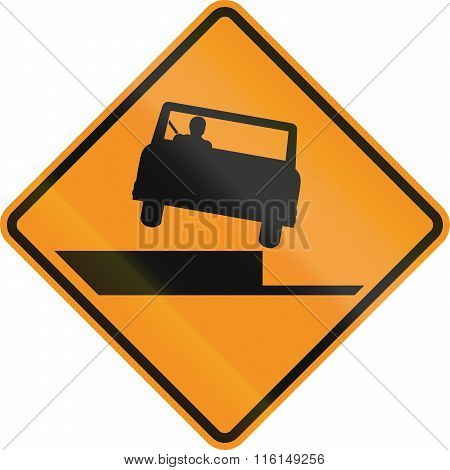 United States Mutcd Road Sign - Uneven Road