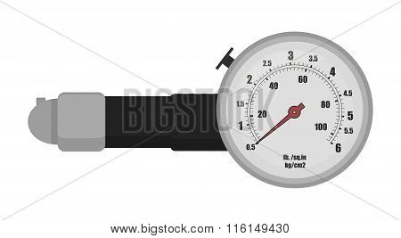 Tire pressure gauge illustration
