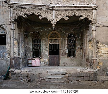 Facade Of An Abandoned House, Cairo, Egypt