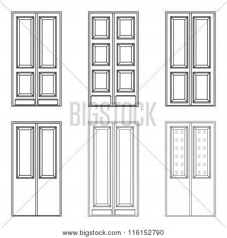 Different wooden doors