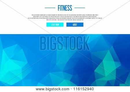 Illustration Of Modern Line Flat Design - Fitness Workout - Fresh Design - Frontpage, Header, Banner