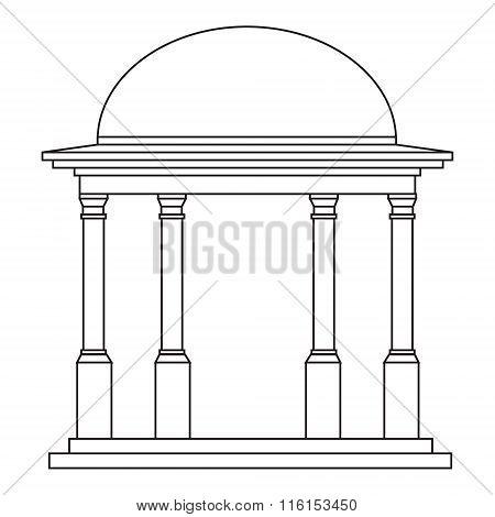 outline rotunda illustration