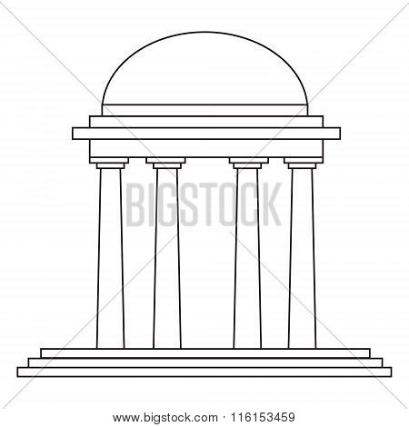 architectural element - vector outline rotunda illustration