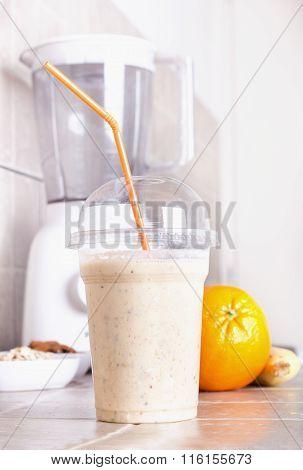 Orange Smoothie With Blender