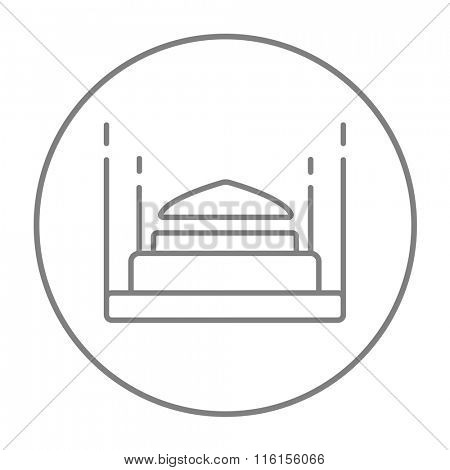 Taj Mahal line icon.