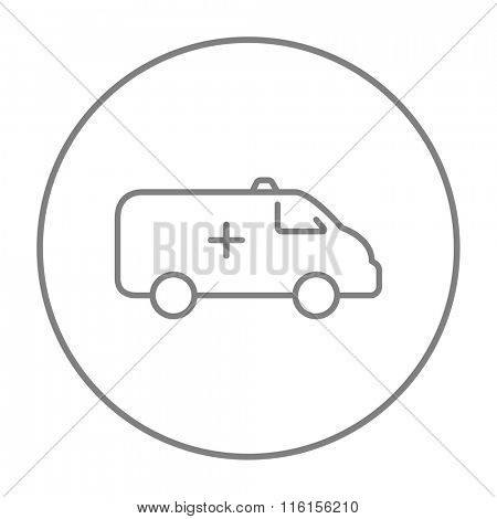 Ambulance car line icon.