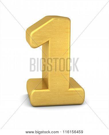 3D Number 1 Gold