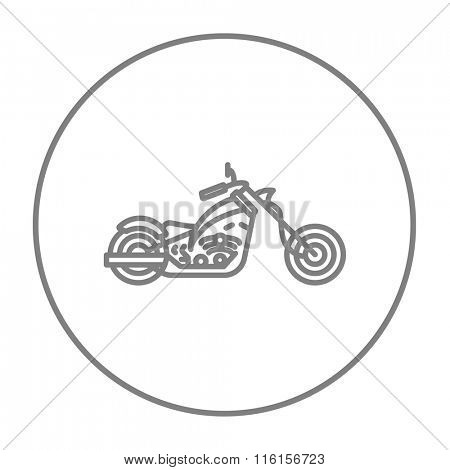 Motorcycle line icon.