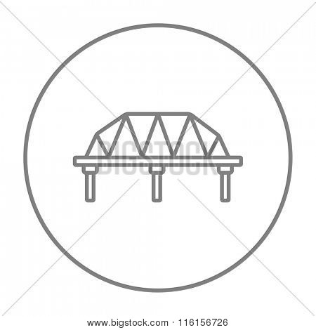 Rail way bridge line icon.