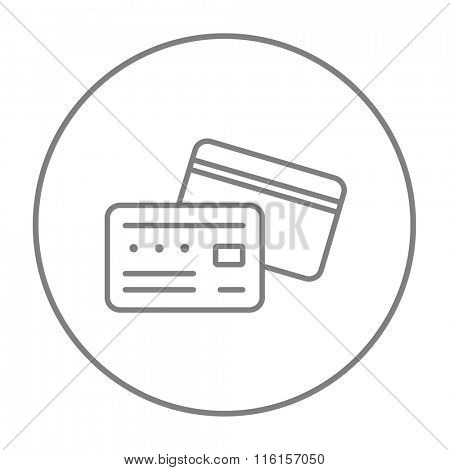 Credit card line icon.