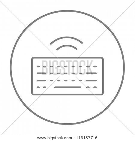 Wireless keyboard line icon.