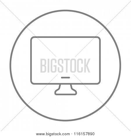 Monitor line icon.
