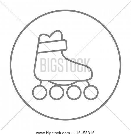 Roller skate line icon.