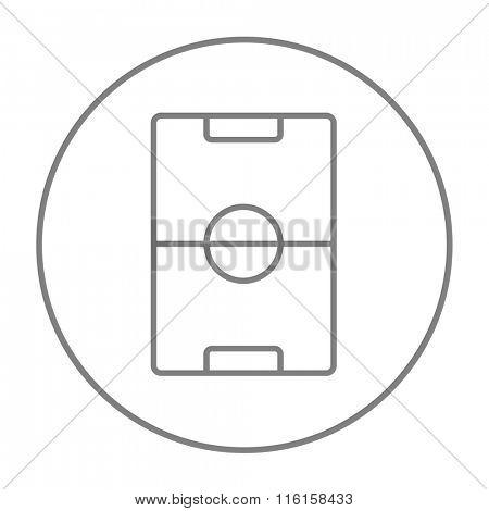 Stadium layout line icon.