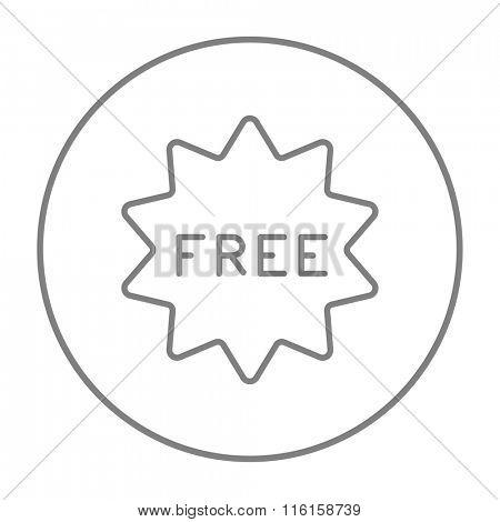 Free tag line icon.