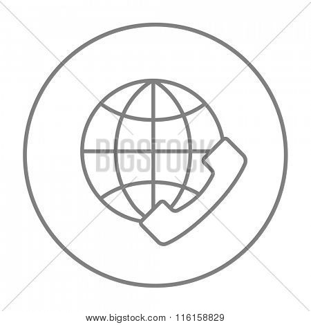 Global communications line icon.