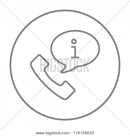 Customer service line icon.