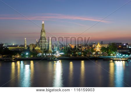 Wat Arun Temple of Dawn  river front