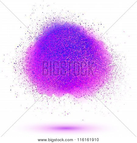 Paint powder vector cloud isolated on white background