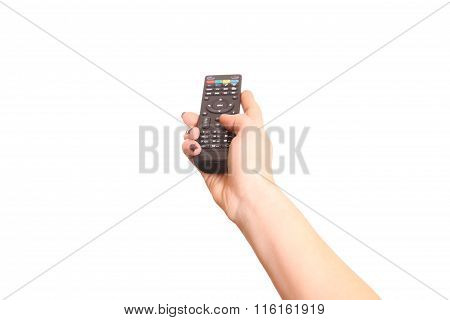 Holding Tv Remote Control