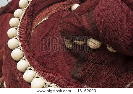 Floats and fishing net
