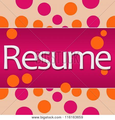 Resume Peach Pink Orange Dots Square