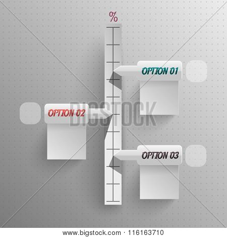 line growth of your indicators vector paper style