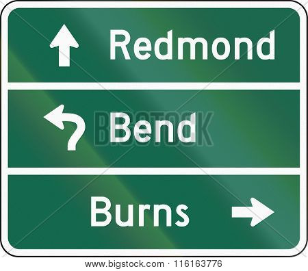 United States Mutcd Guide Road Sign - Destination Sign