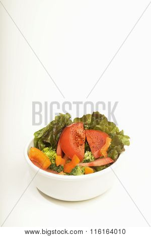 Bowl of fresh salad.
