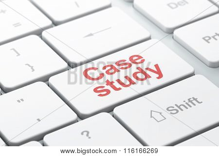 Studying concept: Case Study on computer keyboard background