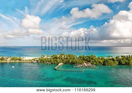 Sea And Sky. Beautiful Landscape Bahamas