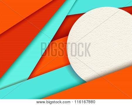 Material Design Background With Colorful Shapes