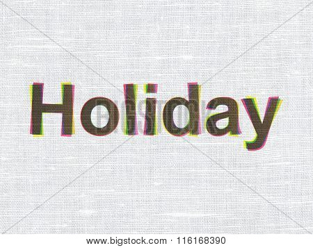 Entertainment, concept: Holiday on fabric texture background