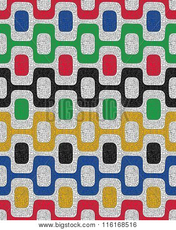 Colorful Seamless Pattern, Mosaic Background