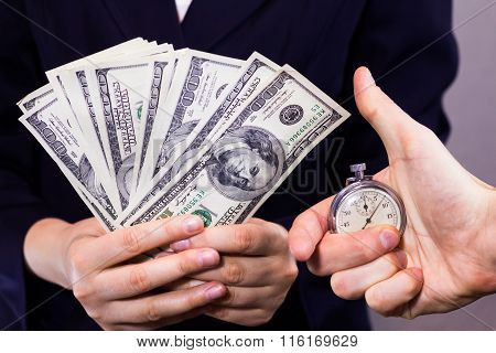 One hundred dollars  and Watch