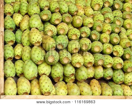 The Tasty Fruits Of A Cactus Offered For Sale